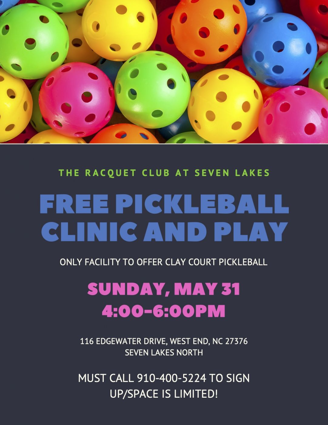 Pickle Ball Clinic