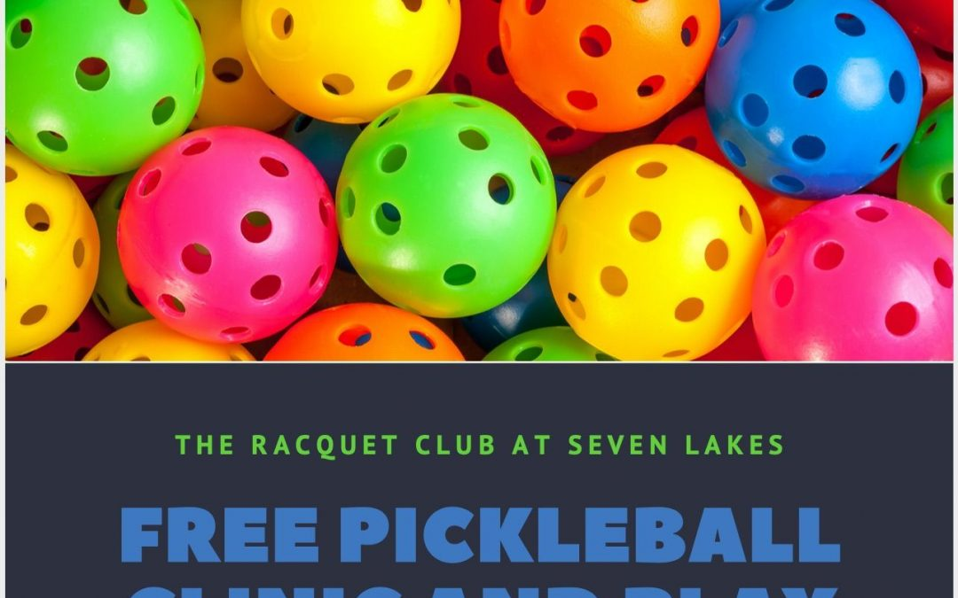 Sunday May 31st – Free PickleBall Clinic