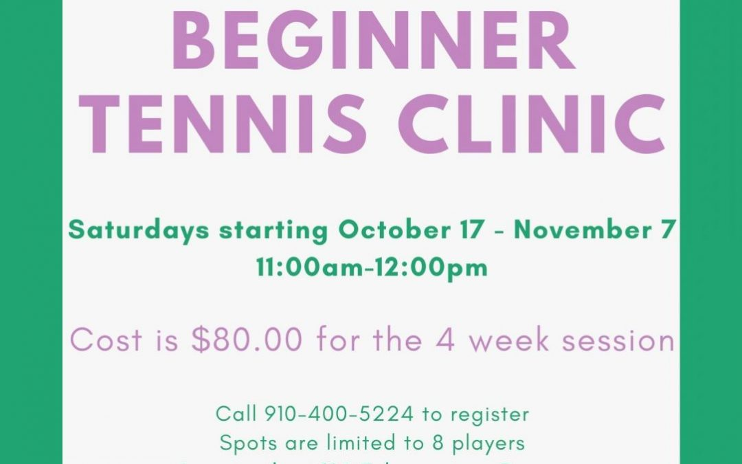 Beginner Tennis Clinic | Starting Oct 17