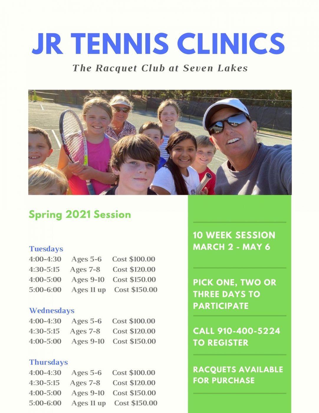 Jr Tennis Clinics