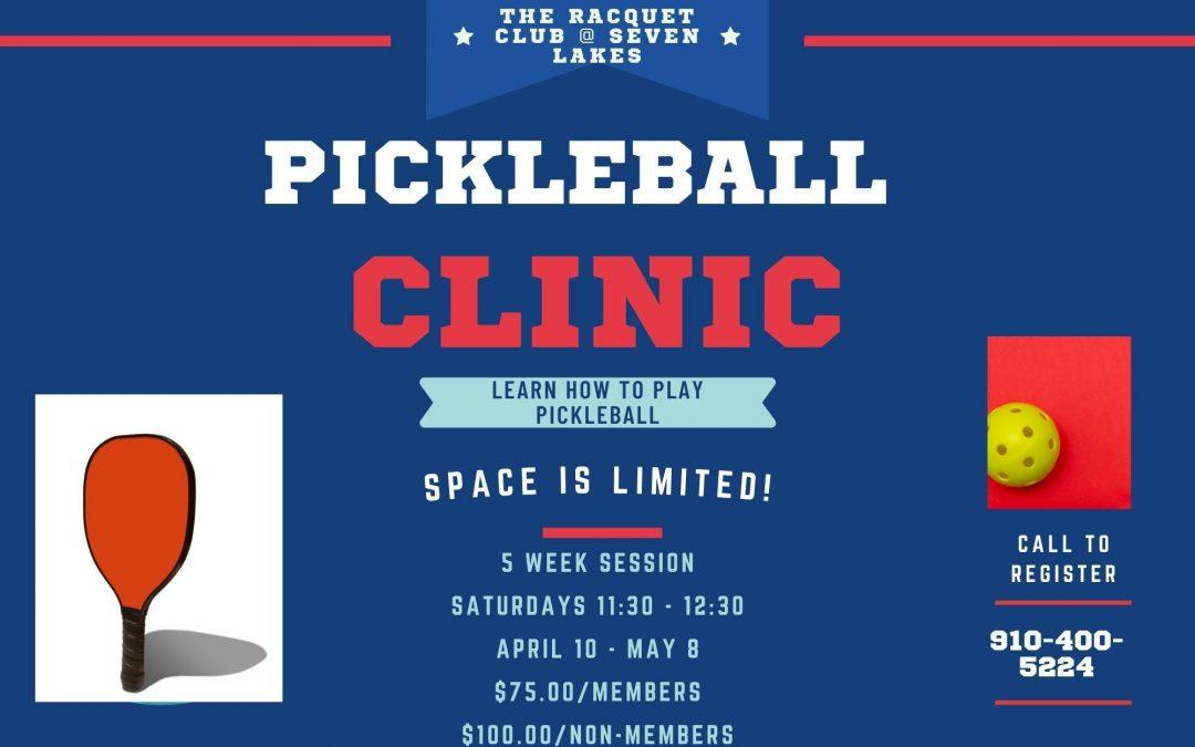 PickleBall Clinic – April 10 – May 8