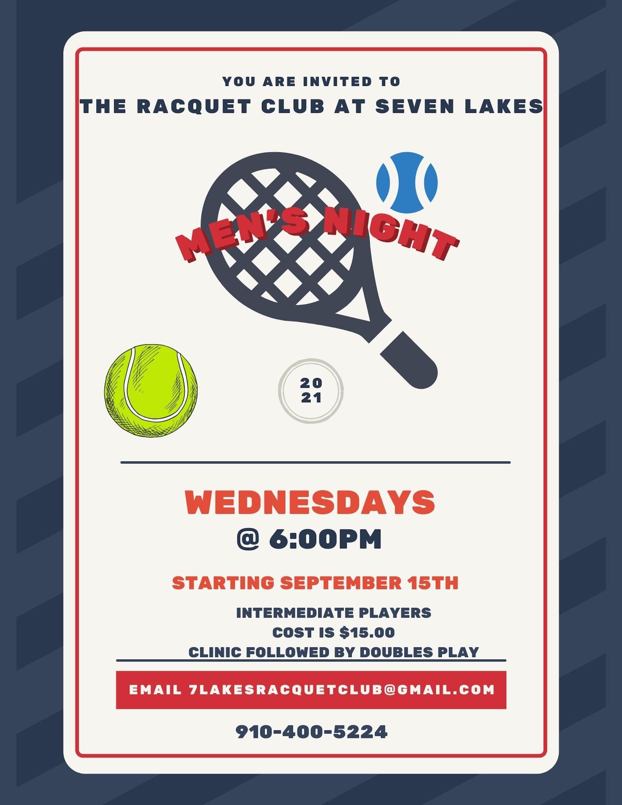Tennis Seven Lakes 50 percent off