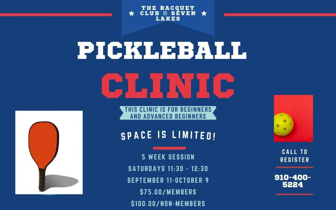 Fall Pickle Ball Clinic – Sep 11 – Oct 9